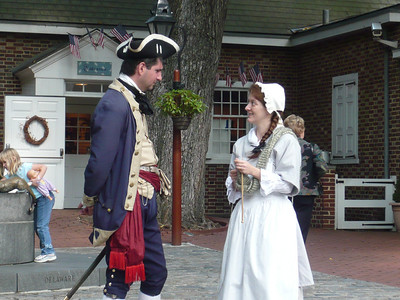 Outside the Betsy Ross House.  Glad it wasn't a hot day for them.