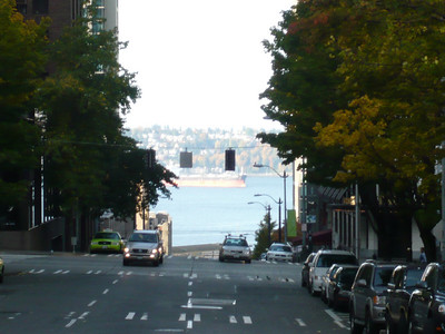 A beautiful fall morning in downtown Seattle.