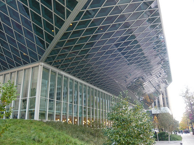 The Seattle Public Library.  Impressive building!