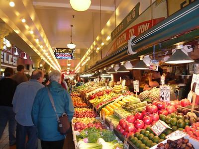 Amazing colors inside the public market.