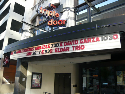 After checking into the hotel, we walked by the evening venue - Amir El Safars at the Triple Door.