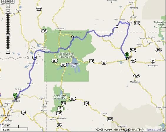 299 miles to Cody