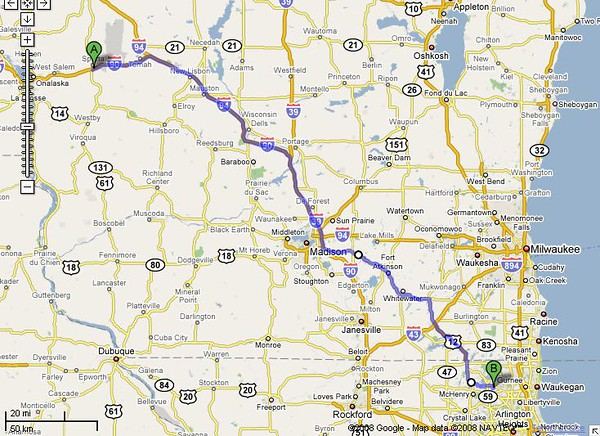 Only 4 hours and 207 miles 'til home!
