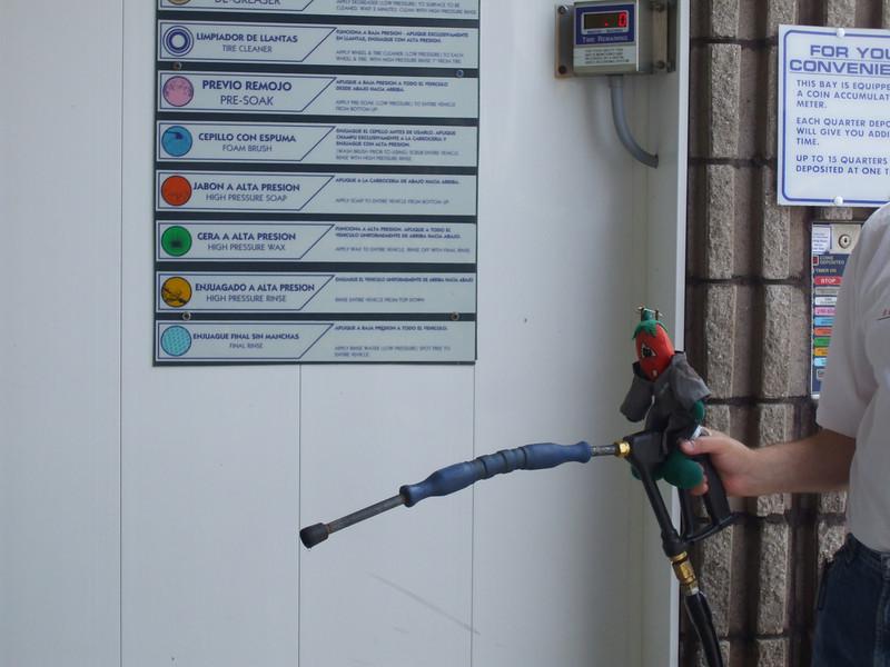 Chili helps to wash the bikes.