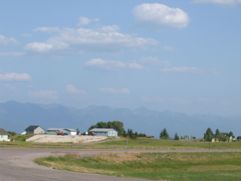 Mountains in the distance. Not much else to see....