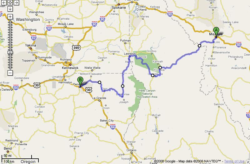 A longer day: 437 mi – about 9 hours 37 mins.