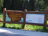 Signage at the Lolo Pass Visitor Center.