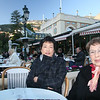 Sandy and Doris at cafe in Monte Carlo.