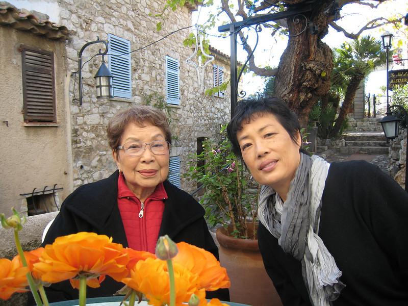 Doris and Sandy in Eze.