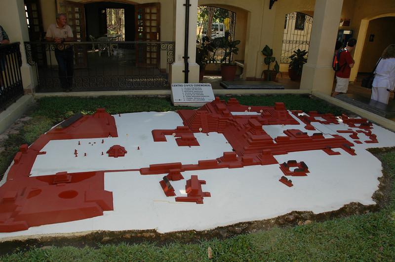 Model of the Copan ruins