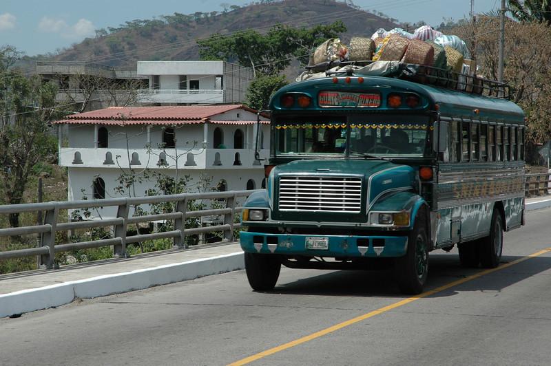 a chicken bus