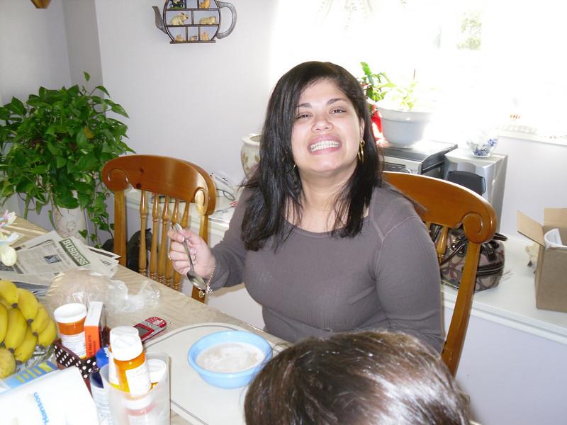 Neca eating Farina