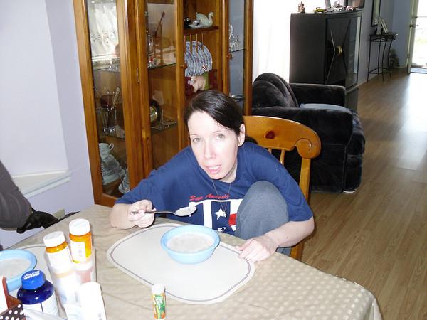 Michele eating Farina