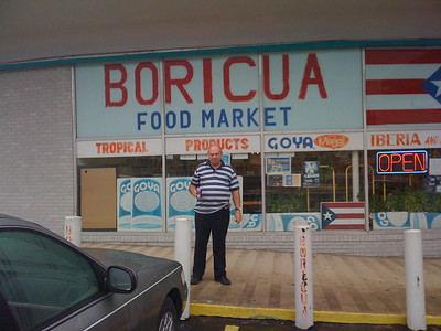 Pop in front of a Puerto Rican grocery store.