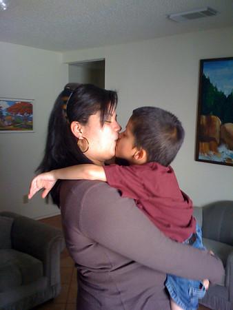 Shane kisses Tamara good bye