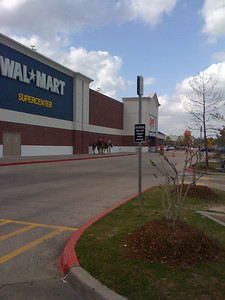 Only in Texas will you see Wal-Mart security gaurds on horseback.