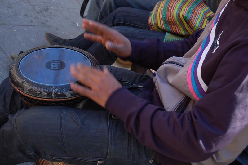 Julian joins a street band