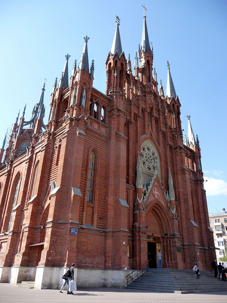 the newly restored Roman Catholic Cathedral in Moscow