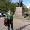 at the statue of Nikolai Rimsky-Korsakov