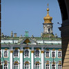 with the arch and its treasure beyond...first glimpse of the Winter Palace (Hermitage)