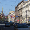 looking northwest on Nevsky Prospekt to the Admiralty spire