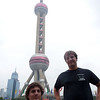last photo on this side of the Huangpu River - the Pearl TV Tower (think it is ugly during the day)