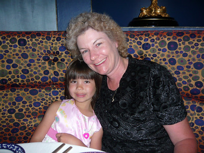 My two favorite people.  :-)  This was taken inside of Pinnacle Grill - Westerdam's flagship restaurant.