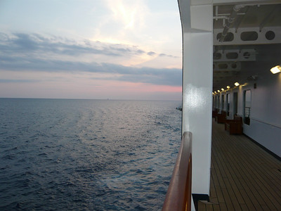 Deck 3 - during sunset.