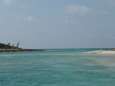 A blurry picture of the entrance to Half Moon Cay.