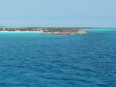 On the tender, leaving Half Moon Cay.