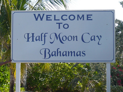 Half Moon Cay is a private island owned by Holland America.  It's amazing that all supplies and food for the island is supplied by their cruise ships.  I wonder how they manage the island during the off-season?