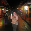 Me & Mr. Cow on Bourbon St in the rain