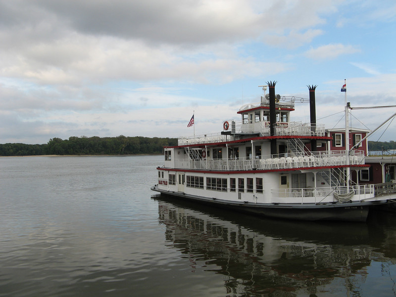 """The old """"paddle wheel"""" boat that you could take a cruise on the Mississippi."""
