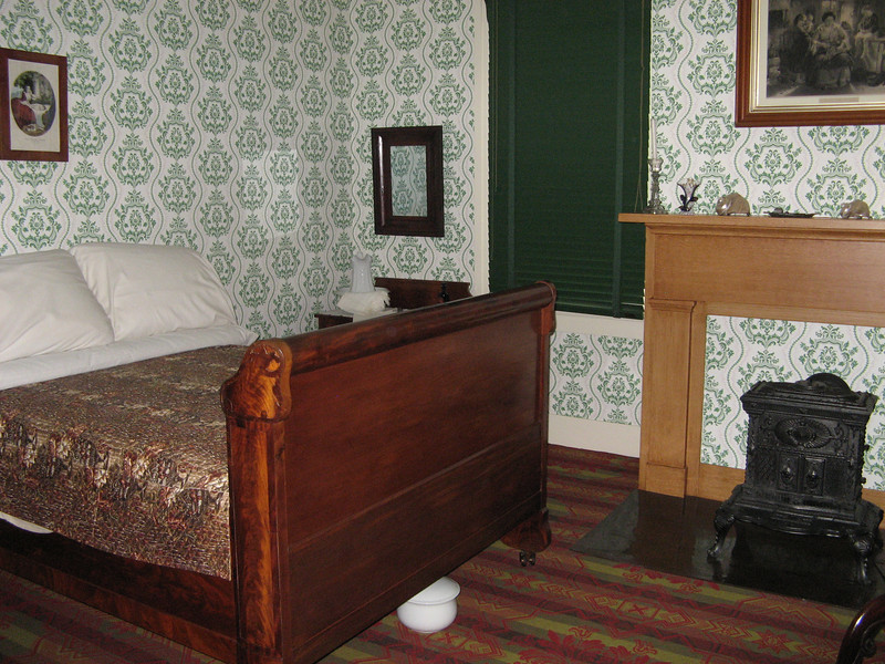 Mr. Lincoln's bedroom with his original bed.