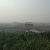 Forbidden City from hilltop in park
