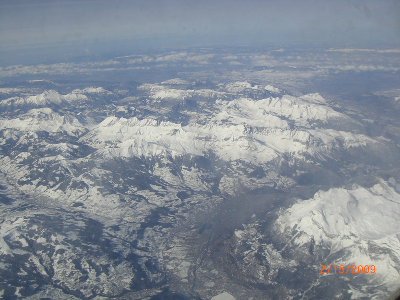 The Alps from our plane.