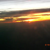 Sunset from the plane.