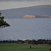 A view of Molokini - a semi circular reef and sign of beauty.  Underwater visibility is 100 feet, sometimes 180 feet