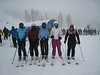 Claire, Chloe, Maddy, Zoe, and Allyn in a Mt Bachelor storm