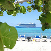 Emerald Princess seen from beach of Princess Cays