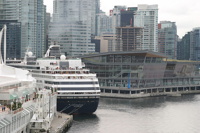 Leaving the cruise terminal in Vancouver.