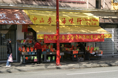 One of the many outdoor markets in Chinatown.