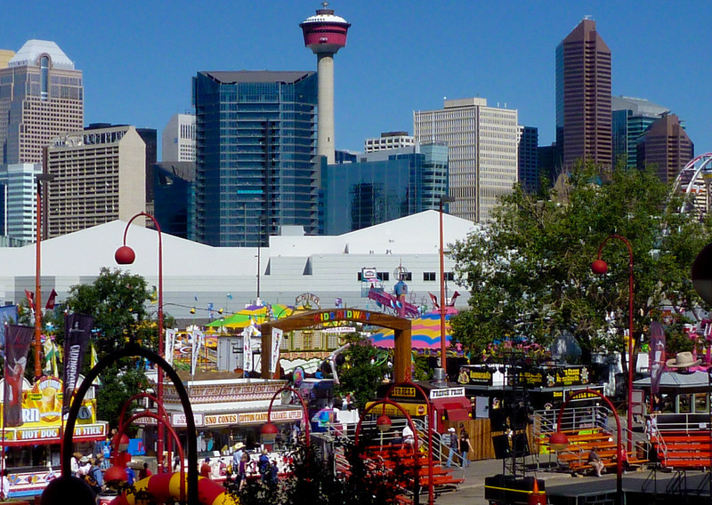 Stampede is right outside downtown.
