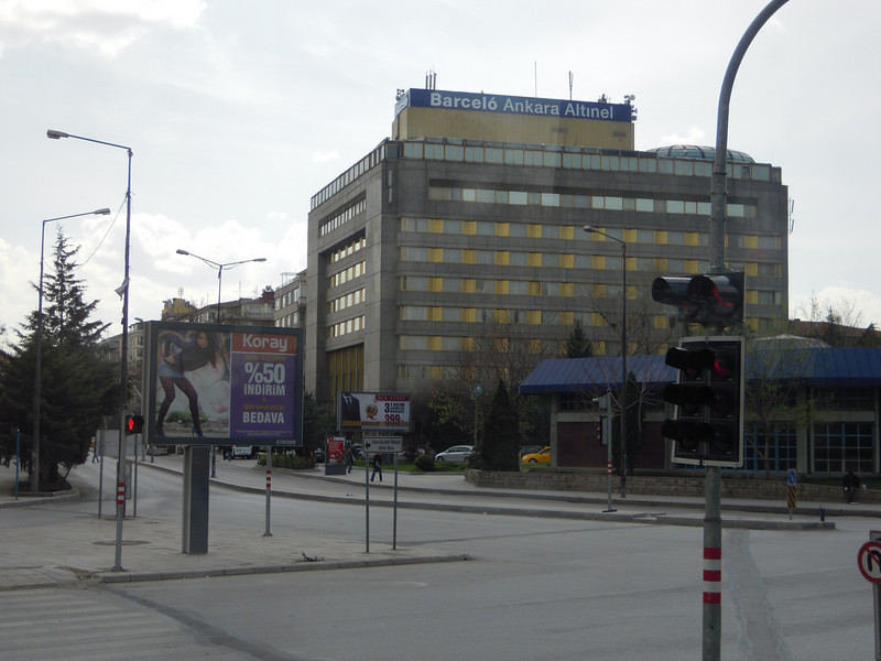 Our first hotel stop, Ankara