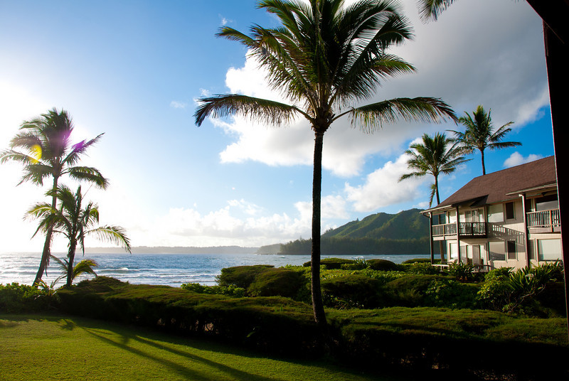Hanalei Bay from our lanai
