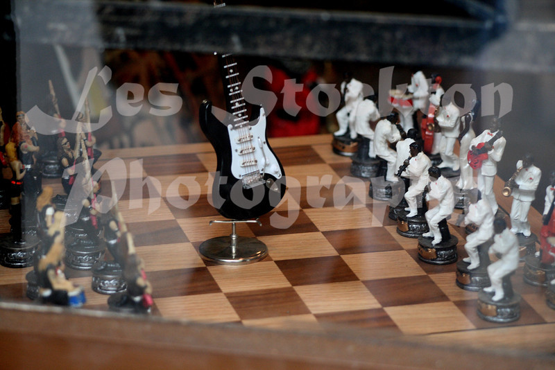 I didn't go inside, but shot through the glass instead.  I loved this musically themed chess board.