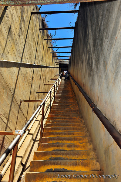 99 Steps. I'm glad were at the bottom, going down.