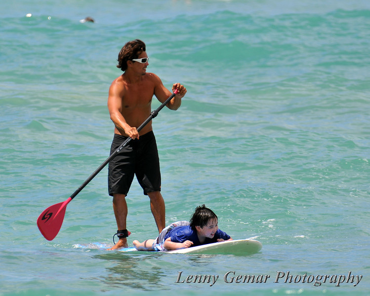 Young surfer and his Zen master...