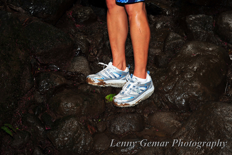 Muddy shoes. They will get worse before the trip is over.