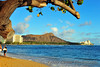 Waikiki beach and Diamond Head. Now there's a picture idea that hasn't been done a million times before...